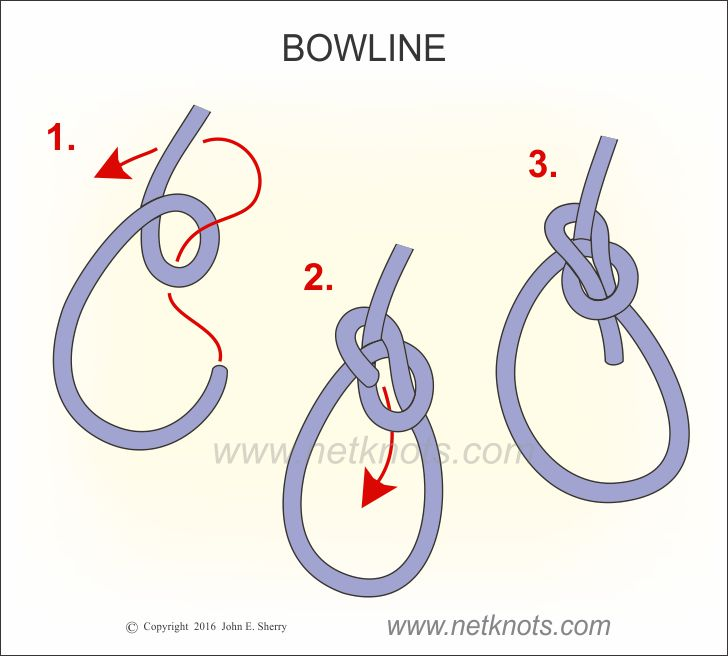Bowline How To Tie A Bowline Knot Animated And Step By Step