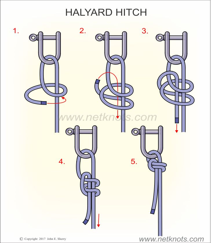 How to tie the Halyard Hitch