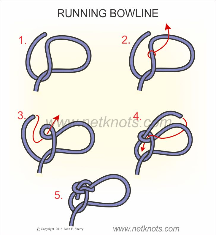 running bowline how to tie a running bowlinerunning bowline knot tying instructions