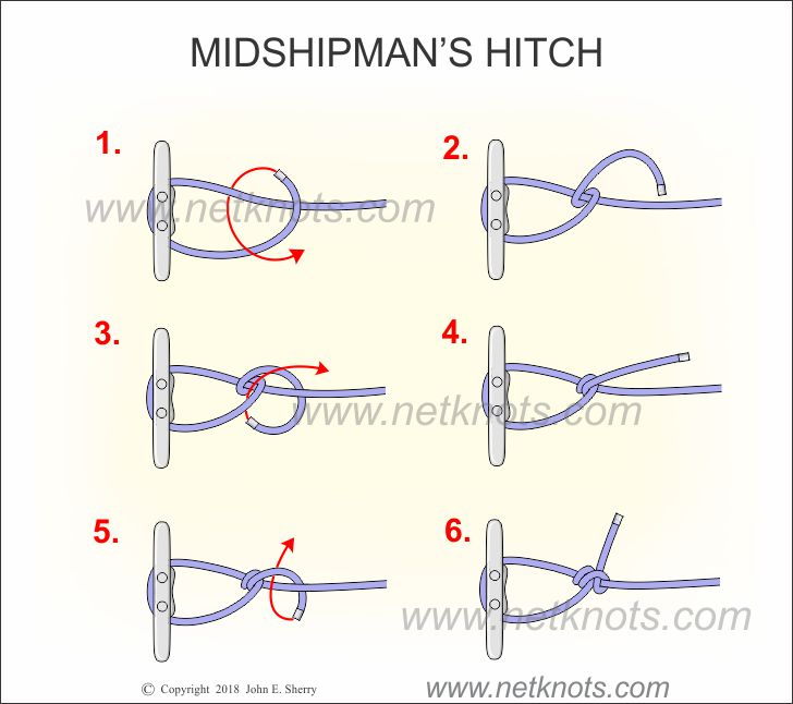 how to tie a midshipman's hitch