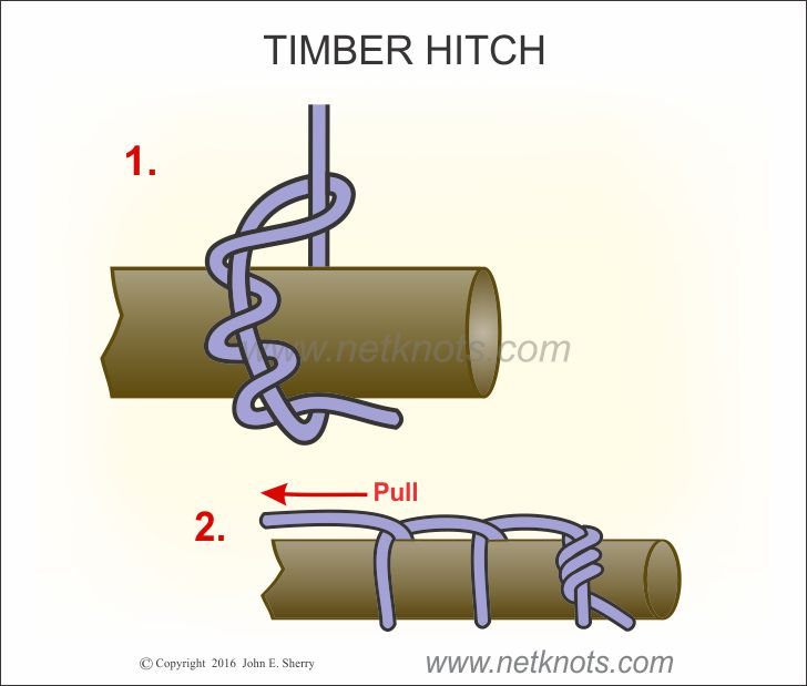 Timber hitch how to tie a timber hitch timber hitch knot tying instructions ccuart Image collections
