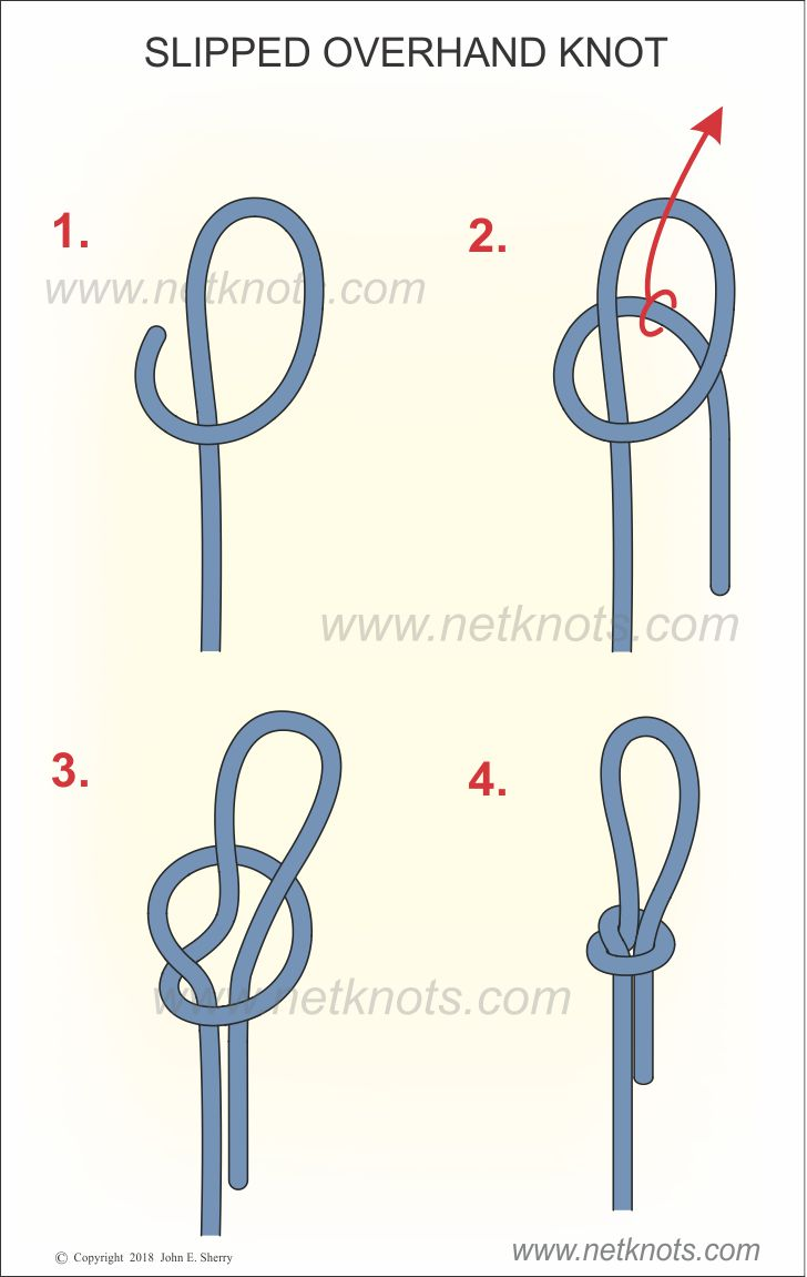 Slipped Overhand Knot Tutorial