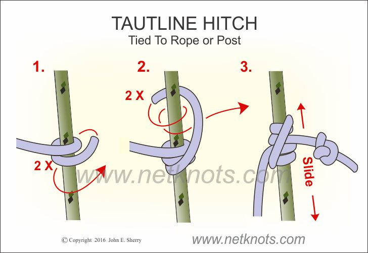 Tautline Hitch to Rope