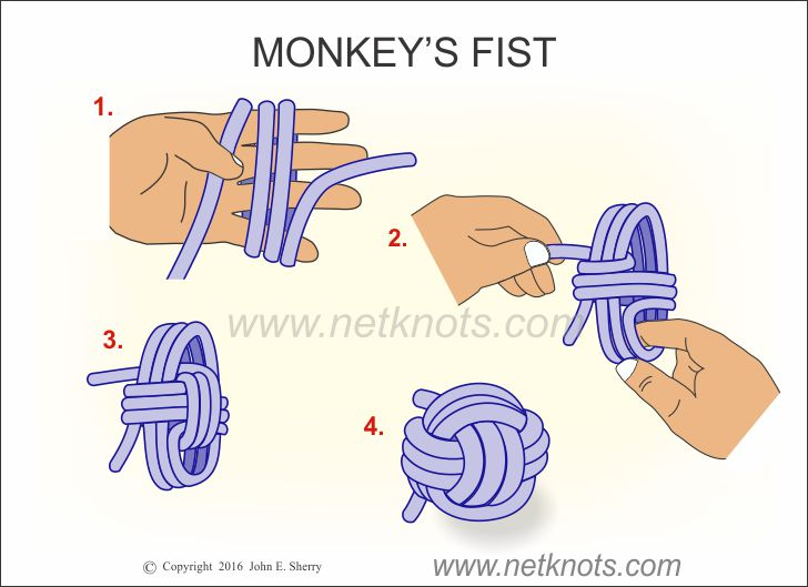 Monkeys Fist How To Tie A Monkeys Fist Knot Animated And Illustrated