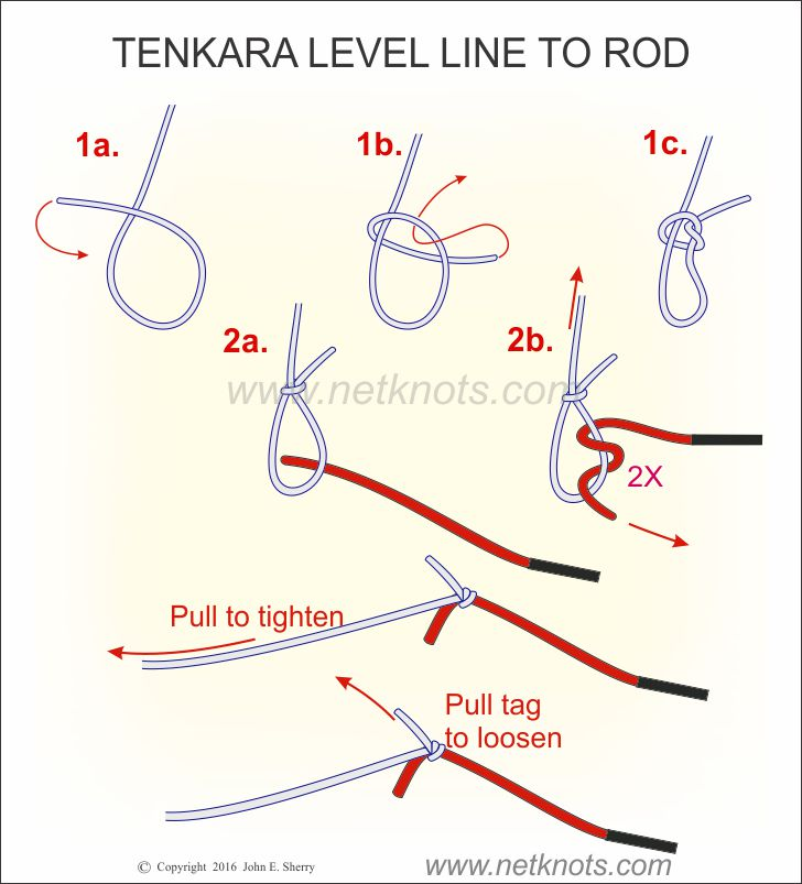 Use this knot to tie tenkara level line to a tenkara fly for Fishing line knots