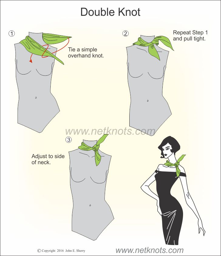 How to tie a neck scarf with a double knot alternative ccuart Image collections