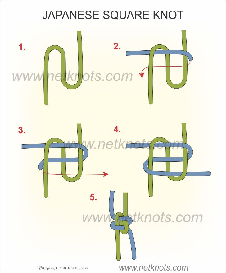 Japanese Square Knot