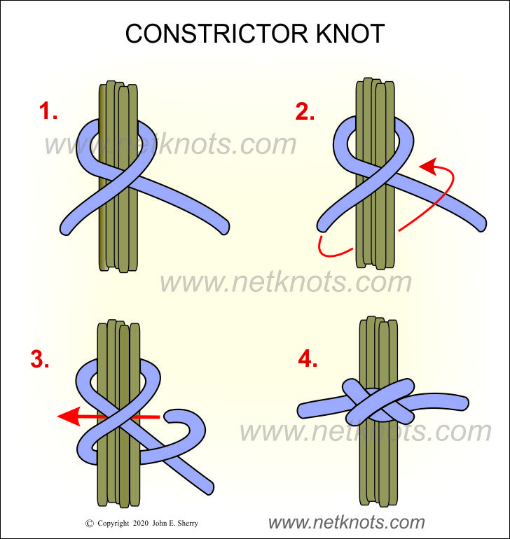 How to tie a Constrictor Knot