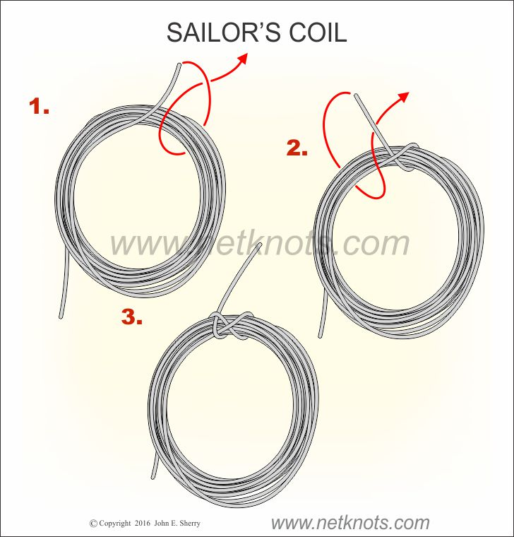 How to coil a rope with the Sailor's Coil