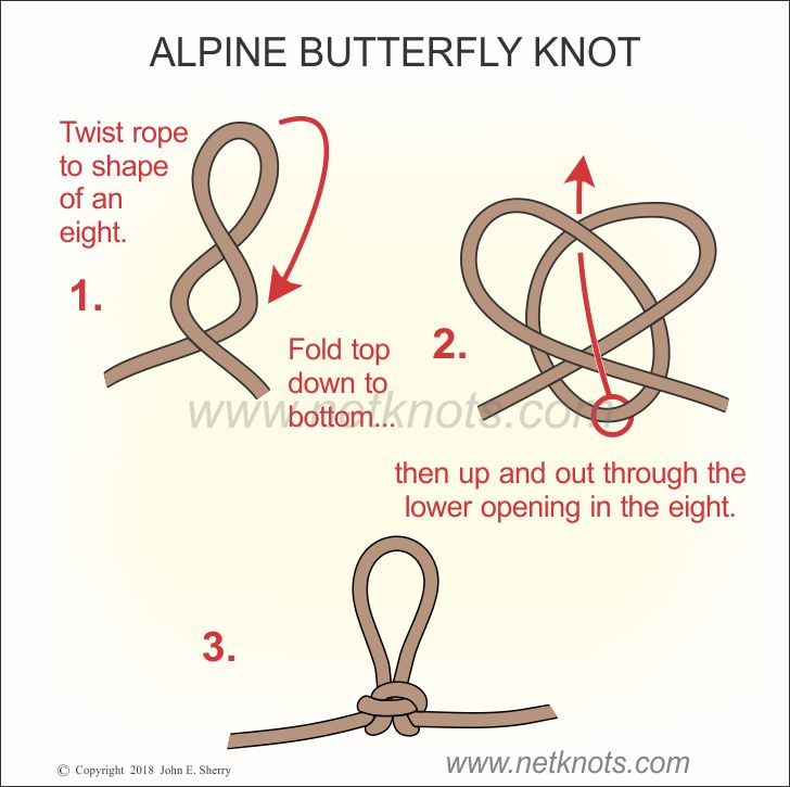 Alpine Butterfly Knot - How to tie an Alpine Butterfly Knot