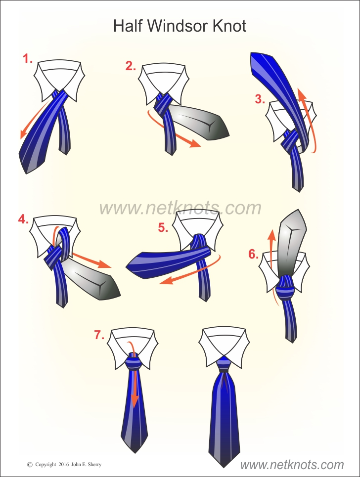 Half Windsor Knot Diagram Library Of Wiring Diagram