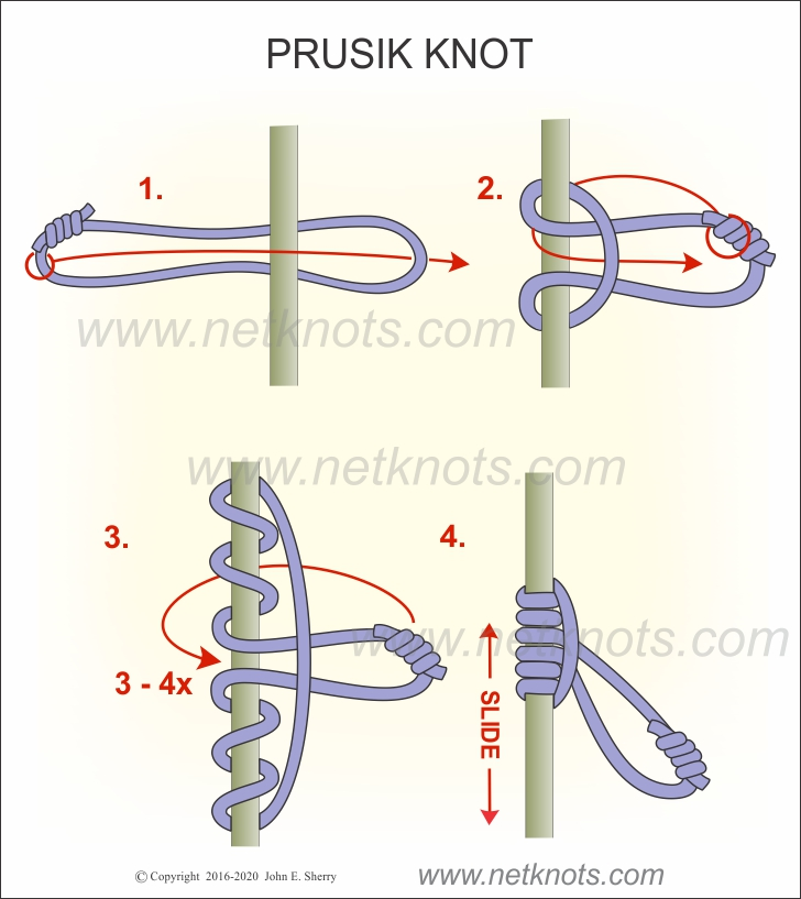 how to tie the prusik hitch